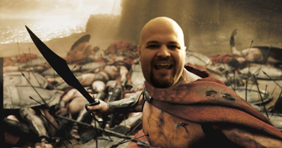 Leonidas never looked so happy